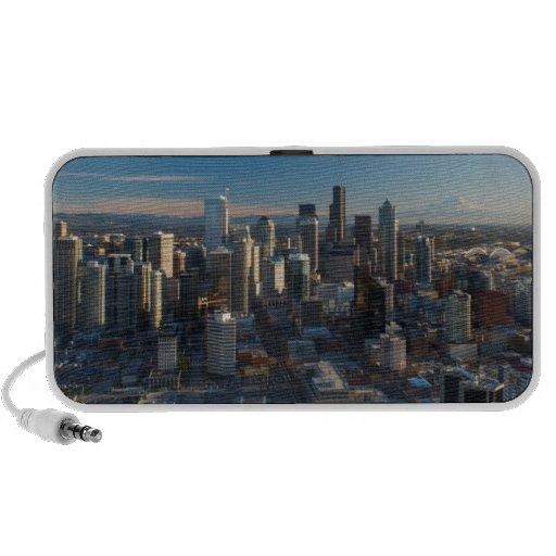Aerial view of Seattle city skyline Travel Speaker