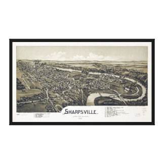 Aerial View of Sharpsville, Pennsylvania (1901) Canvas Print