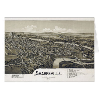 Aerial View of Sharpsville, Pennsylvania (1901) Card