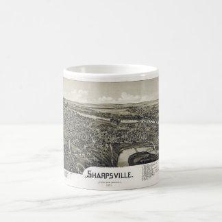 Aerial View of Sharpsville, Pennsylvania (1901) Coffee Mug