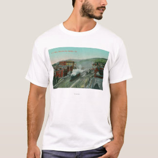 Aerial View of Shattuck Ave SP Train T-Shirt
