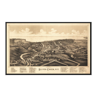 Aerial View of Silver Creek, New York (1892) Canvas Print