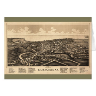 Aerial View of Silver Creek, New York (1892) Card