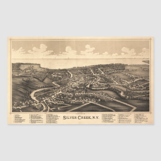 Aerial View of Silver Creek, New York (1892) Rectangular Sticker