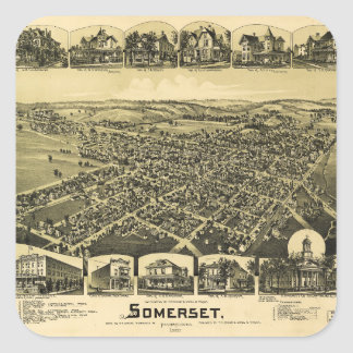 Aerial View of Somerset, Pennsylvania (1900) Square Sticker