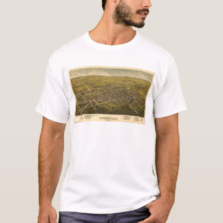 Aerial View of Somerville, New Jersey (1882) T-Shirt