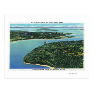 Aerial View of Somes Sound Entrance Postcard