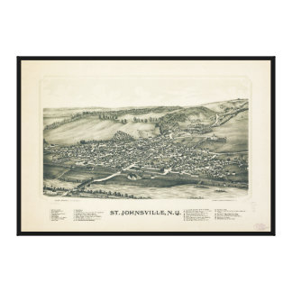 Aerial View of St. Johnsville, New York (1890) Canvas Print