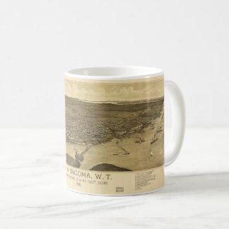 Aerial View of Tacoma, Washinton (1885) Coffee Mug