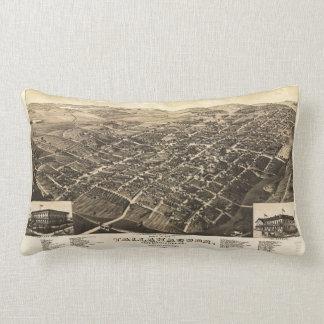 Aerial View of Tallahassee, Florida (1885) Lumbar Cushion