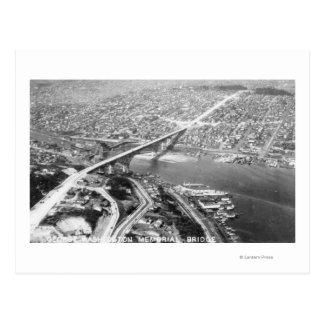 Aerial View of the Aurora Bridge Postcard