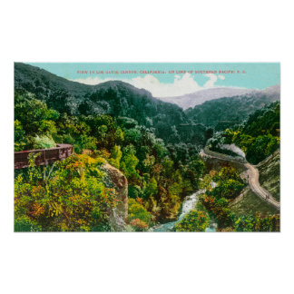 Aerial View of the Canyon, Southern Pacific Trai Poster