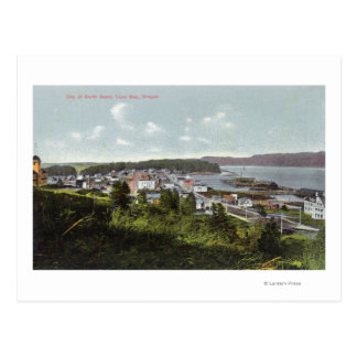 Aerial View of the City and Coos Bay Postcard