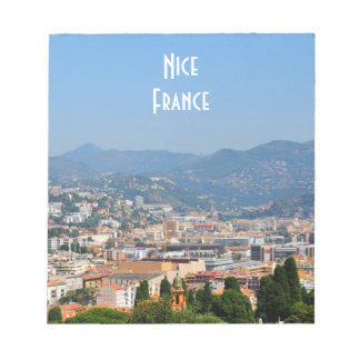 Aerial view of the city of Nice in France Notepads