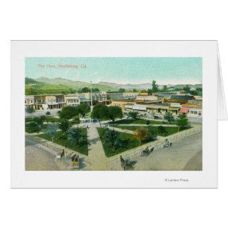 Aerial View of the City PlazaHealdsburg, CA Card