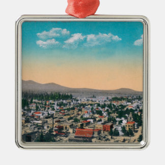 Aerial View of the CityCoeur d'Alene, ID Metal Ornament