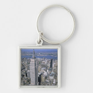 Aerial view of the Empire State Building and Silver-Colored Square Key Ring