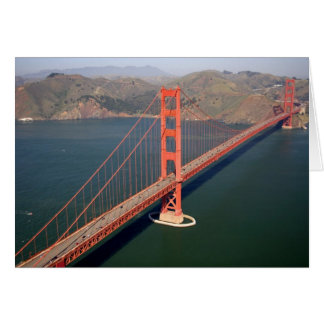 Aerial view of the Golden Gate Bridge in the 2 Greeting Card