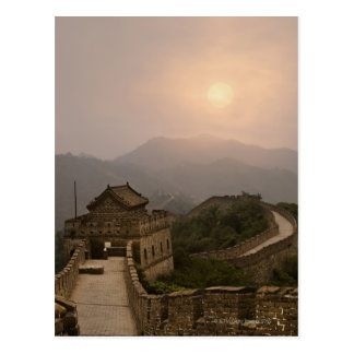 Aerial view of the Great Wall of China Postcard