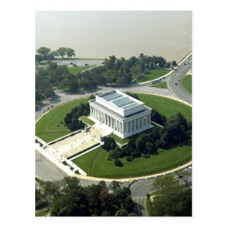 Aerial View of the Lincoln Memorial Postcard