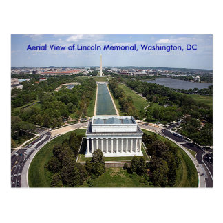 Aerial View of the Lincoln Memorial, Washington, D Postcard