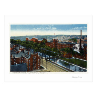 Aerial View of the Mills and Canal Postcard