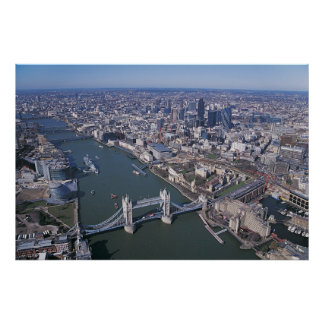 Aerial View of the River Thames Poster