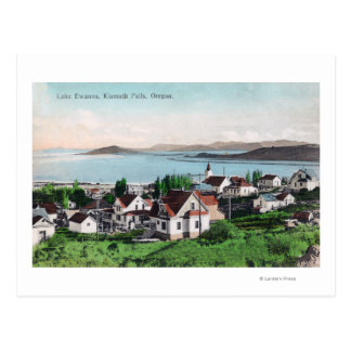 Aerial View of the Town and Lake Ewauna Postcard