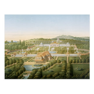 Aerial view of the villa of King Guillaume of Wurt Postcard