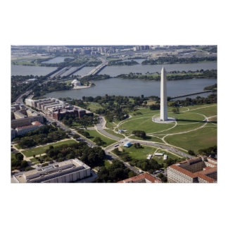 Aerial view of the Washington  Monument Poster