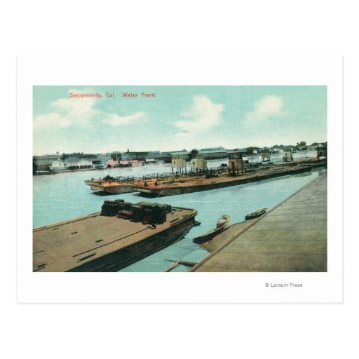 Aerial View of the Waterfront Post Card