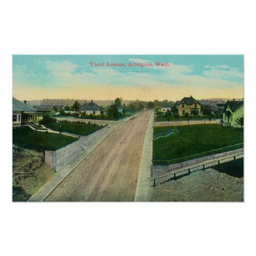 Aerial View of Third Avenue Poster