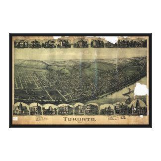Aerial View of Toronto, Ohio (1899) Canvas Print