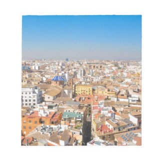 Aerial view of Valencia, Spain Notepad