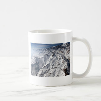Aerial view of Valle Nevado ski resort Chile Basic White Mug