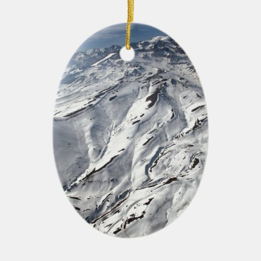 Aerial view of Valle Nevado ski resort Chile Christmas Ornaments