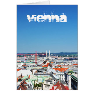 Aerial view of Vienna, Austria Card