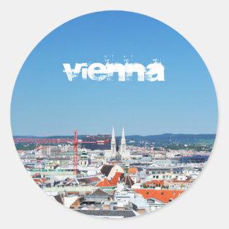 Aerial view of Vienna, Austria Classic Round Sticker