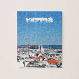 Aerial view of Vienna, Austria Jigsaw Puzzle