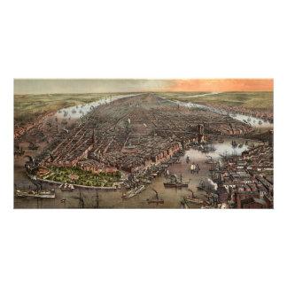 Aerial View of Vintage New York Personalised Photo Card