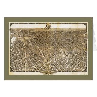 Aerial View of Washington D.C. (1921) Card