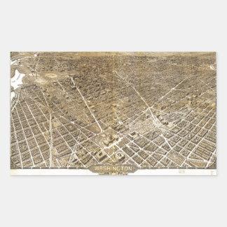 Aerial View of Washington D.C. (1921) Rectangular Sticker