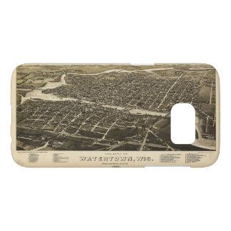 Aerial View of Watertown, Wisconsin (1885)