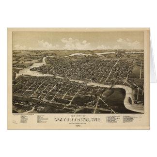 Aerial View of Watertown, Wisconsin (1885) Card