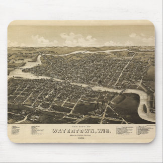 Aerial View of Watertown, Wisconsin (1885) Mouse Pad