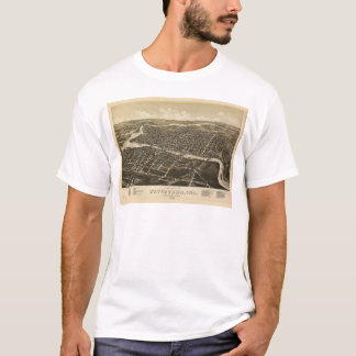 Aerial View of Watertown, Wisconsin (1885) T-Shirt