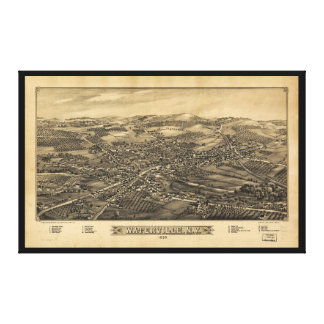 Aerial View of Waterville, New York (1885) Canvas Print