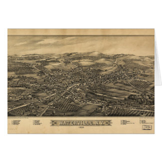 Aerial View of Waterville, New York (1885) Card
