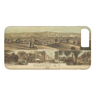Aerial View of Waverly, New York by J Moray (1881) iPhone 8 Plus/7 Plus Case