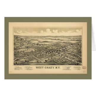 Aerial View of West Chazy, New York (1899) Card